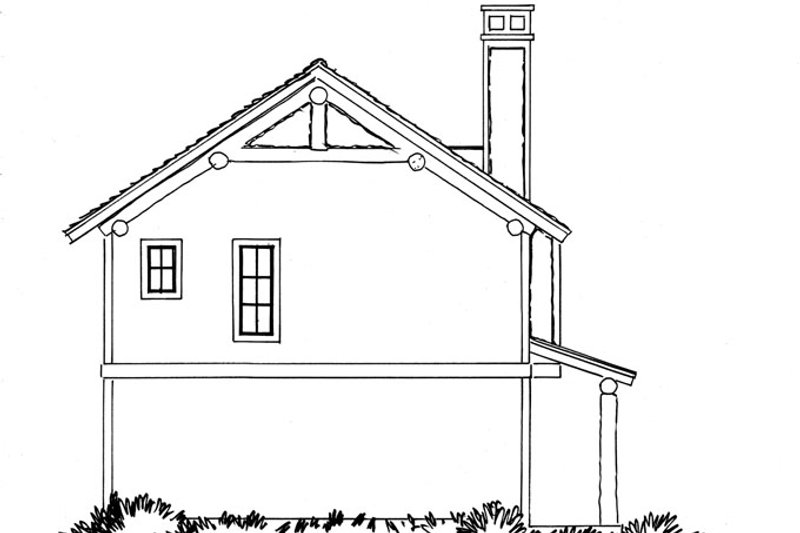 Country Exterior - Rear Elevation Plan #942-20 - Houseplans.com