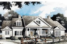 Country Exterior - Front Elevation Plan #429-346