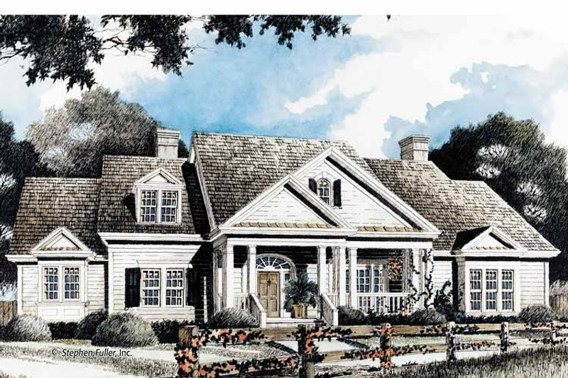 Country Exterior - Front Elevation Plan #429-346 - Houseplans.com