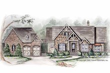 House Plan Design - European Exterior - Front Elevation Plan #54-263