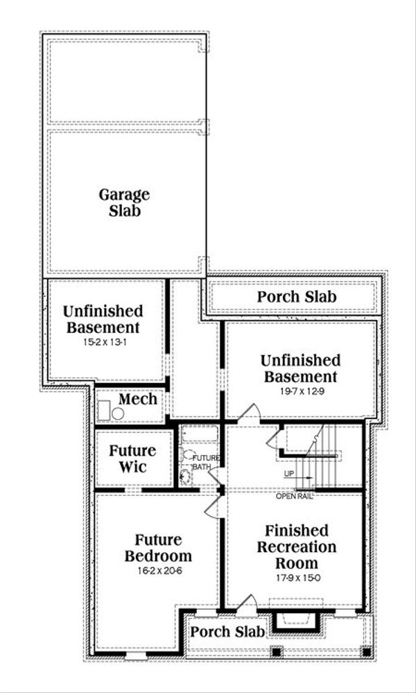 Craftsman Floor Plan - Lower Floor Plan Plan #419-237