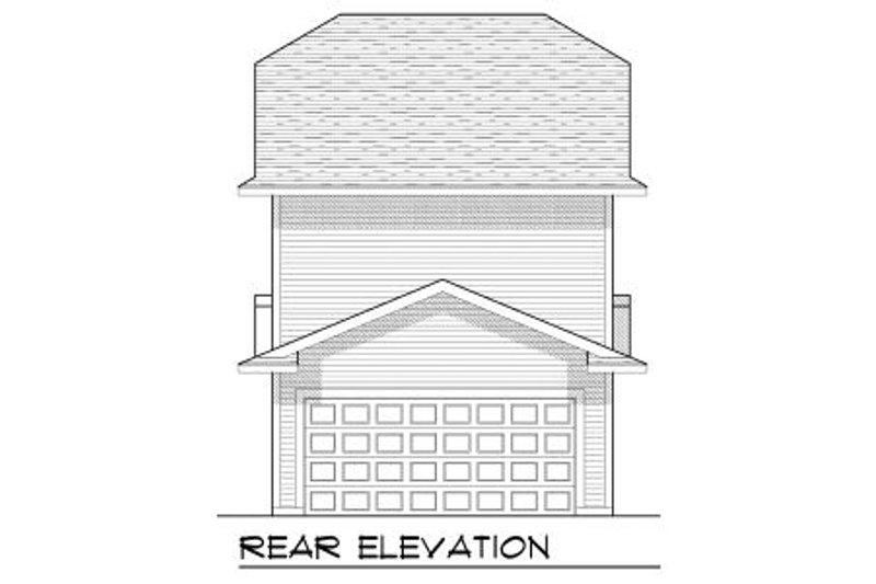 Craftsman Exterior - Rear Elevation Plan #70-964 - Houseplans.com