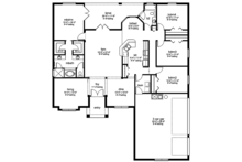 European Floor Plan - Main Floor Plan Plan #1058-133