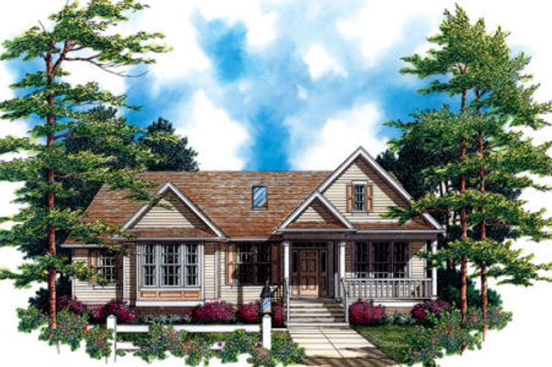 Craftsman Exterior - Front Elevation Plan #48-291 - Houseplans.com