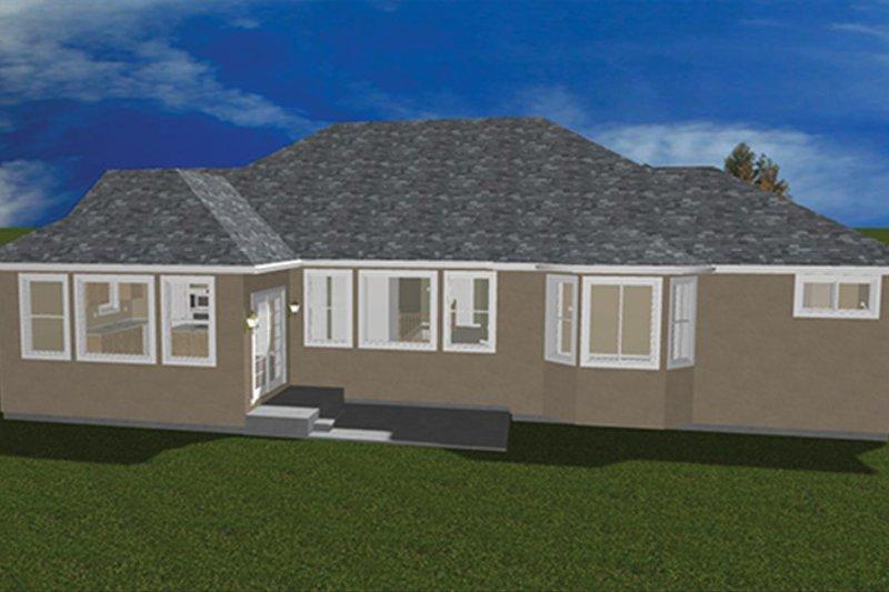 Ranch Exterior - Rear Elevation Plan #1060-11 - Houseplans.com