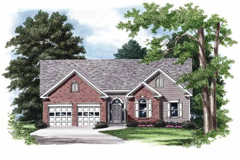 Ranch Exterior - Front Elevation Plan #927-710