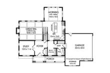 Traditional Floor Plan - Main Floor Plan Plan #1010-186