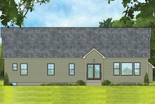 Ranch Exterior - Rear Elevation Plan #1010-189