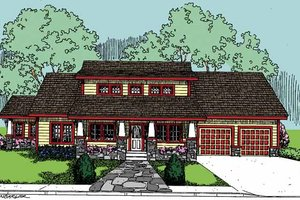 Country Exterior - Front Elevation Plan #60-832