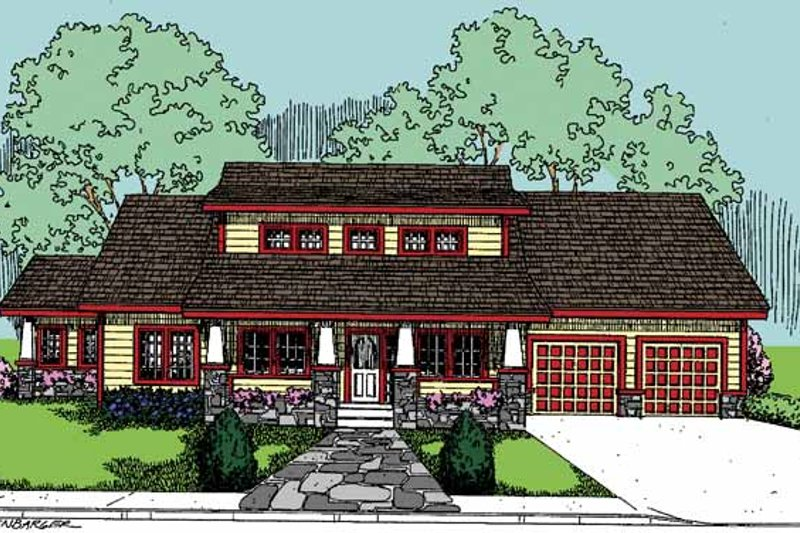 House Design - Country Exterior - Front Elevation Plan #60-832