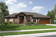 Prairie Style House Plan - 3 Beds 3.5 Baths 2694 Sq/Ft Plan #48-657