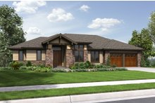 Prairie Exterior - Front Elevation Plan #48-657