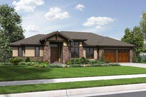 House Plan Design - Prairie Exterior - Front Elevation Plan #48-657