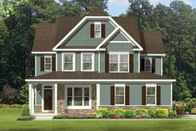 Home Plan - Colonial Exterior - Front Elevation Plan #1010-130