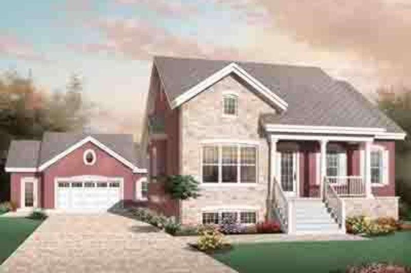 European Exterior - Front Elevation Plan #23-637 - Houseplans.com