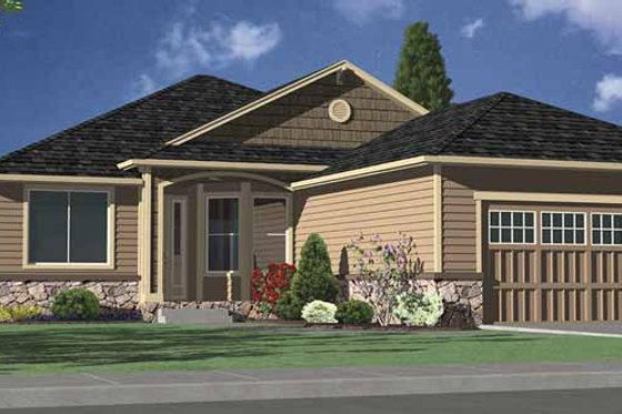 Contemporary Exterior - Front Elevation Plan #951-13