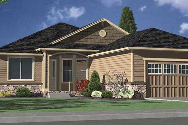 Contemporary Exterior - Front Elevation Plan #951-13 - Houseplans.com