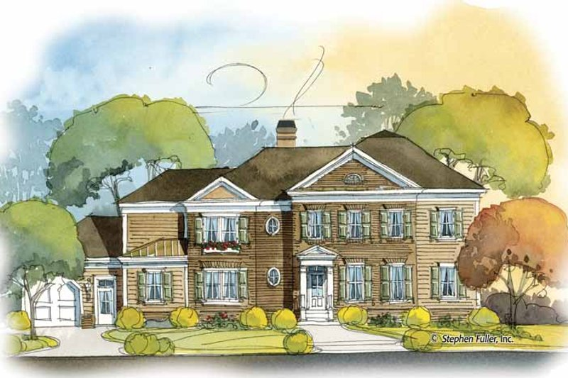 Colonial Exterior - Front Elevation Plan #429-406 - Houseplans.com