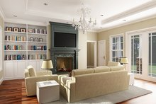 European Interior - Family Room Plan #456-116