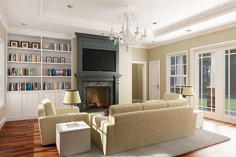 European Interior - Family Room Plan #456-116 - Houseplans.com