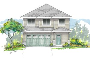 Craftsman Exterior - Front Elevation Plan #53-642