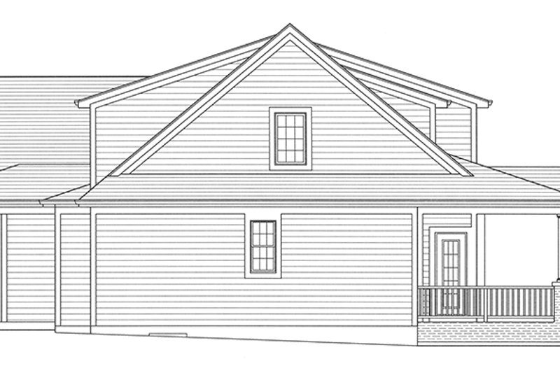 Traditional Exterior - Other Elevation Plan #46-852 - Houseplans.com