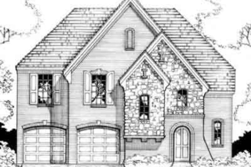 European Style House Plan - 3 Beds 2.5 Baths 2131 Sq/Ft Plan #141-105 Exterior - Front Elevation