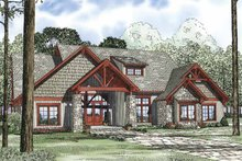Country Exterior - Front Elevation Plan #17-3313