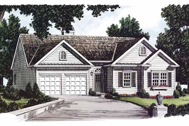 Colonial Exterior - Front Elevation Plan #927-636
