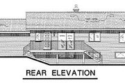 Cabin Style House Plan - 2 Beds 1 Baths 1196 Sq/Ft Plan #18-127 Exterior - Rear Elevation