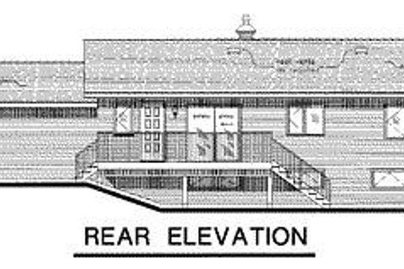 Cabin Exterior - Rear Elevation Plan #18-127 - Houseplans.com