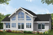 House Design - Contemporary Exterior - Rear Elevation Plan #1061-8