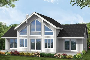 Dream House Plan - Contemporary Exterior - Rear Elevation Plan #1061-8