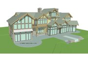 Traditional Style House Plan - 4 Beds 6 Baths 7829 Sq/Ft Plan #928-247 Exterior - Rear Elevation