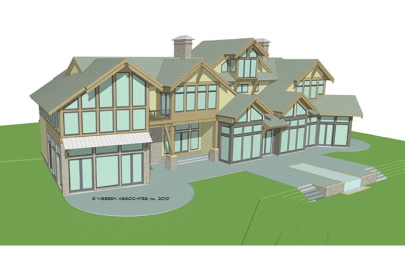 Traditional Exterior - Rear Elevation Plan #928-247 - Houseplans.com