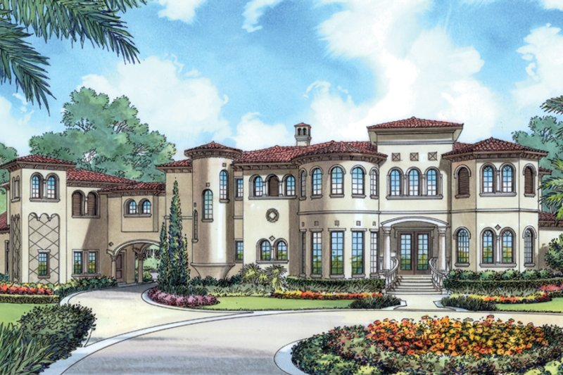 European Exterior - Front Elevation Plan #417-798 - Houseplans.com