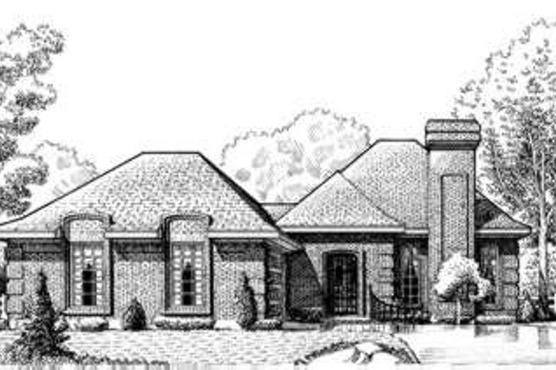 European Exterior - Front Elevation Plan #410-320