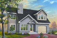House Plan Design - European Exterior - Front Elevation Plan #23-860