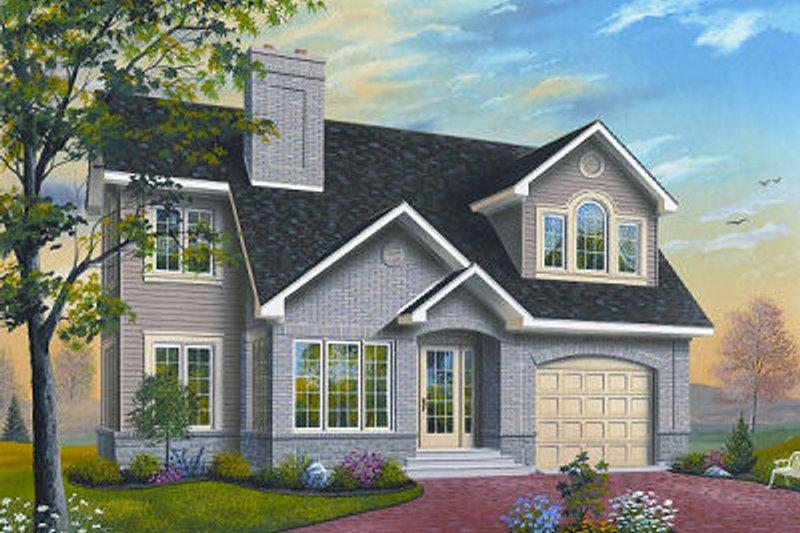 Dream House Plan - European Exterior - Front Elevation Plan #23-860
