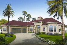 House Design - Mediterranean Exterior - Front Elevation Plan #23-788