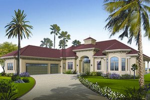 Architectural House Design - Mediterranean Exterior - Front Elevation Plan #23-788