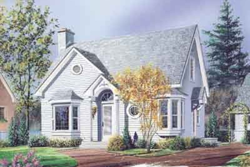 Cottage Exterior - Front Elevation Plan #23-509