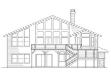 Home Plan - Exterior - Rear Elevation Plan #124-328