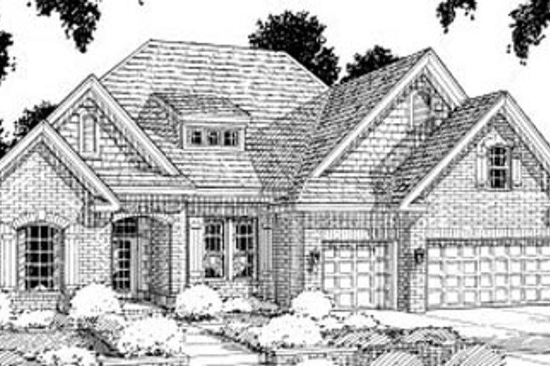 Traditional Exterior - Front Elevation Plan #20-185