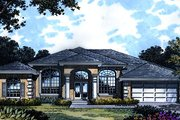 Mediterranean Style House Plan - 3 Beds 3 Baths 2456 Sq/Ft Plan #417-270 Exterior - Front Elevation