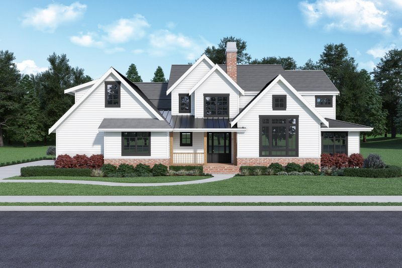 Home Plan - Farmhouse Exterior - Front Elevation Plan #1070-92