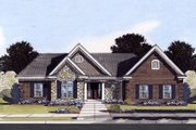 Traditional Style House Plan - 3 Beds 2 Baths 1792 Sq/Ft Plan #46-517 Exterior - Front Elevation