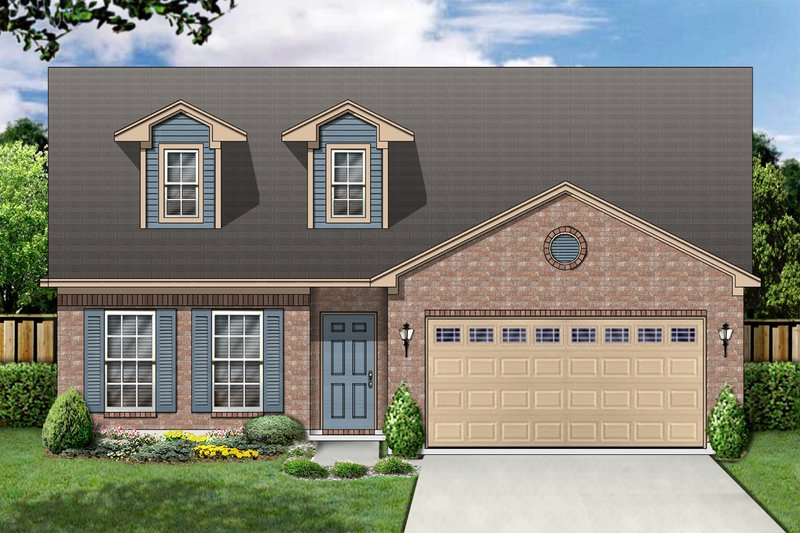 Traditional Exterior - Front Elevation Plan #84-367 - Houseplans.com