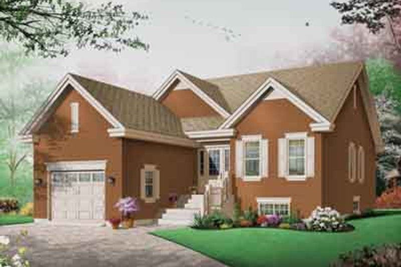 Traditional Exterior - Front Elevation Plan #23-650 - Houseplans.com