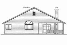 House Blueprint - Ranch Exterior - Rear Elevation Plan #72-335